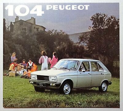 V15156 PEUGEOT 104 5 PORTES - CATALOGUE - 1981 - 20x22 - FR FR