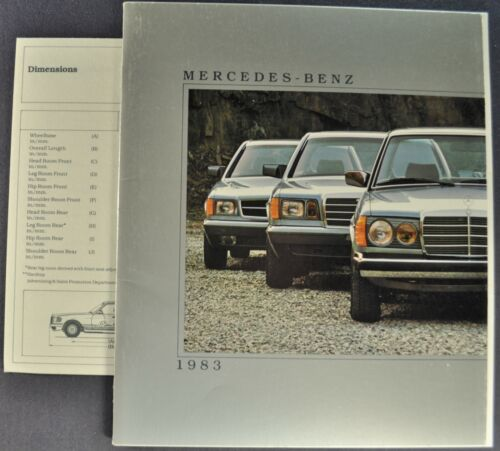 1983 Mercedes Benz Brochure 380 SL SEC SEL 300 D SD CD TD Excellent Original 83