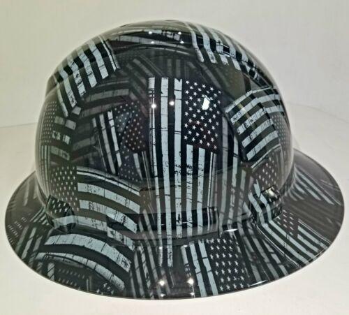 NEW FULL BRIM Hard Hat custom hydro dipped AMERICAN FLAG BLACK OPS RECON EDITION 3