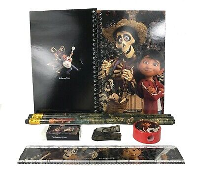 Disney Black Coco Stationary Set Back to School Supplies for Kids 8 Pieces (Stationary For Kids)