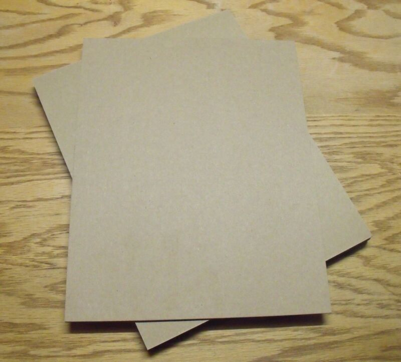 Pack of 10 -  8.5x11 Chipboard Sheets .022 Thickness