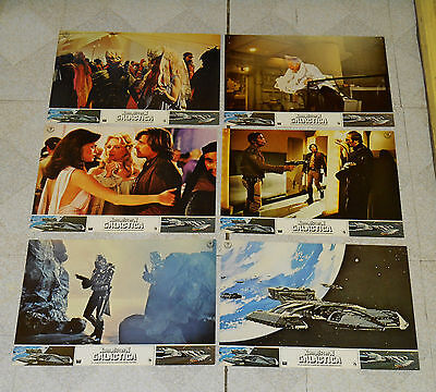 original BATTLESTAR GALACTICA international lobby card LOT x6