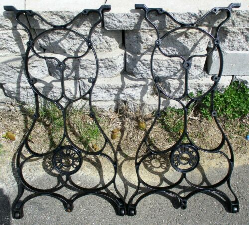 STANDARD INDUSTRIAL AGE CAST IRON TREADLE LEGS ANTIQUE REPURPOSE