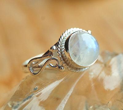 Handarbeit Ring Silber Mondstein 58 Silberring Verspielt Elegant Glänzend