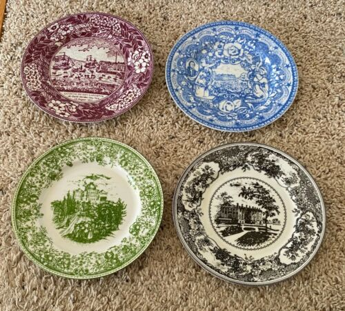 """Woodmere AN AMERICAN VIEW 7 3/8"""" Dessert Plates Set of 4"""