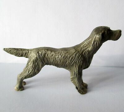 """Vintage POINTER Dog Figurine Pewter/Lead Metal Miniature Hunting Figure 2.25"""""""