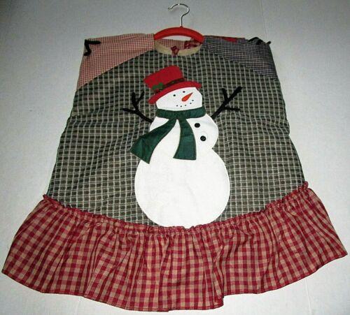 "Christmas Tree Skirt  WAVING SNOWMAN  49""Diameter"
