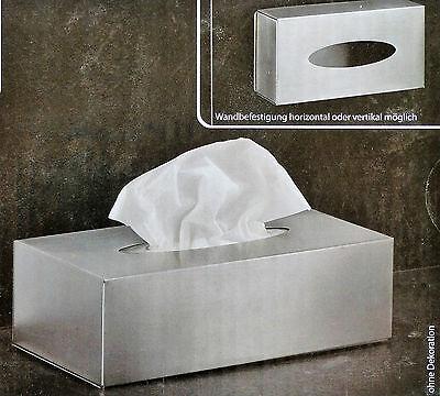 Edelstahl Kosmetiktücherbox mit Anti-Fingerabdruck-Beschichtung Tücherbox /NEU!
