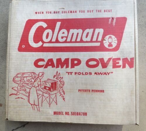 Vintage Coleman Camp Oven With Box Hardley Used