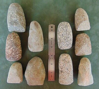 10 X Neolithic celt Artifacts Sahara lot collection celts stone tool scraper axe