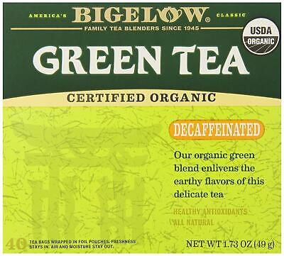 Bigelow Decaffeinated Organic Green Tea Bags 40-Count Box Decaffeinated ()