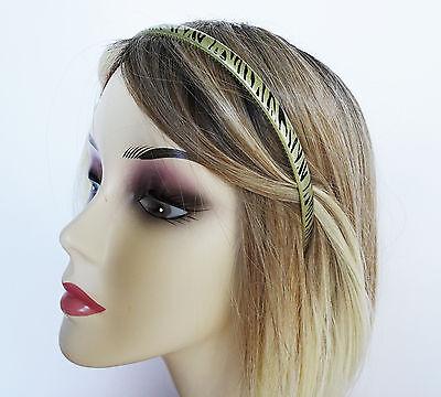 Glittery Gold Zebra Animal Print Headband Hair Band Alice Band 1 cm Wide (Zebra Head Band)
