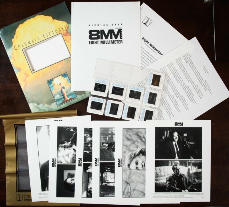 """8mm"" (1999) movie press kit - photos, slides, info - nicolas cage"