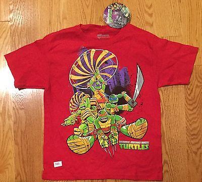 #310 Ninja Turtle Boys Size Small Red Short Sleeve T-Shirt Leo Raphael - Red Ninja Turtle