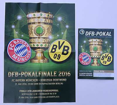 DFB-Pokalfinale 2016 Bayern München - Borussia Dortmund, Spielplakat + Programm