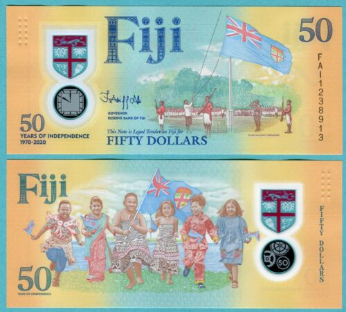 Fiji 50 Dollars 2020 UNC**New - Polymer / Commemorative
