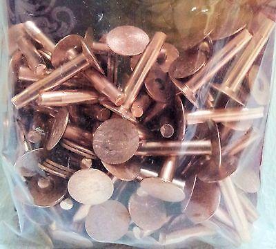"""#12 Med 3/4"""" 75 Pack of COPPER RIVETS & BURRS 11281-01 Tandy Leather Rivet Burr"""
