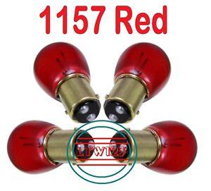 (4) 1157 RED 12v 2057 Light Bulb Stop Signal Turn Tail