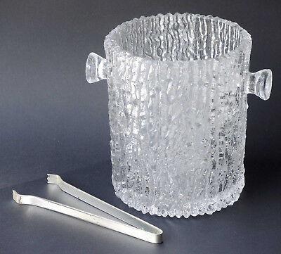 Glas Preßglas Eiseimer Eiskübel Eiswürfelbehälter 800 ml, 1 Kg schwer + Eiszange