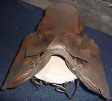 old australian horse saddle ; aged hide leather Beverley Park Kogarah Area Preview