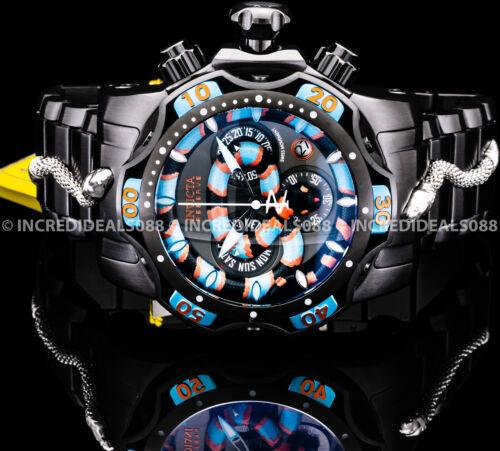 Invicta Men RESERVE VENOM KING SNAKE SWISS MVT Chronograph Black 52mm Watch