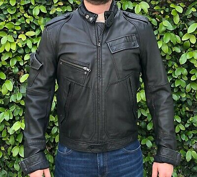 Diesel Leather Jacket Men's Size Large