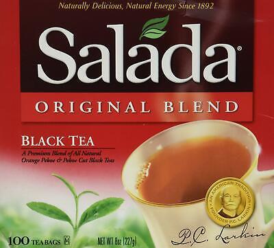 Salada Original Blend Black Tea (8 oz, 100 Count Boxes) 2 Pack
