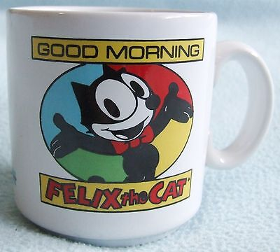 "Vintage FELIX THE CAT "" Good Morning "" Ceramic Child's Small Size MUG"