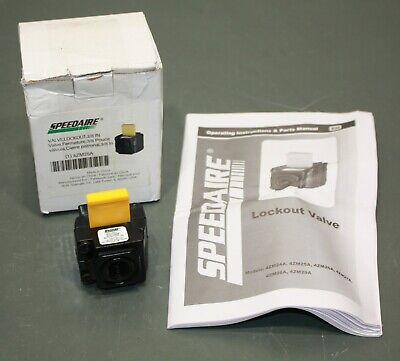 Speedaire Lockout Air Valve 4zm25 38 Npt Pneumatic Tagout Loto