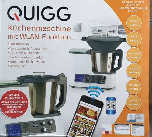 Quigg Küchenmaschine mit WLAN Funktion Kochfunktion und Waage über App steuerbar