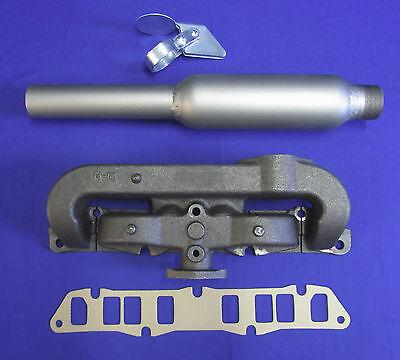 Sa-200 F162 F163 Intake Exhaust Manifold Kit Wgasket Glasspack Weather Cap