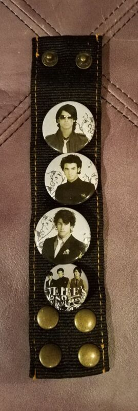 Lifes No Rehearsal Jonas Brothers Wristband With Pins