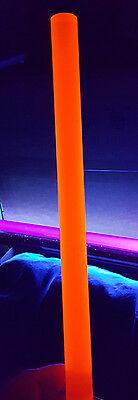 1 Pc 34 Diameter 12 Long Clear Orange Acrylic Fluorescent Plastic Colored Rod