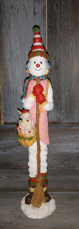 Rare Pencil Snowman Hard To Find Carrying Babies Snowman very unique