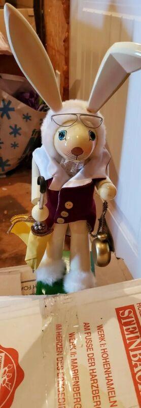 STEINBACH WHITE RABBIT NUTCRACKER LE 2902/10000 Alice In Wonderland Rare HTF