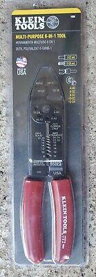 Klein Tools Multi-purpose Wire Cutterstrippercrimper 6-in-1 Tool Model-1000