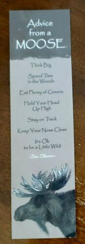 Advice from Nature bookmark, Advice from a Moose, laminated bookmark
