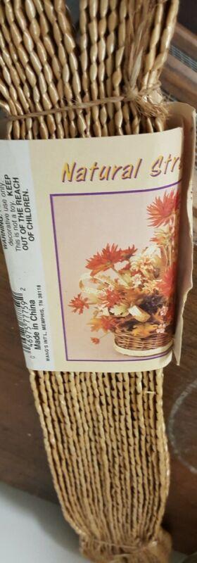 Natural Weave Straw Ribbon 10 Yards New 100% Straw Wang