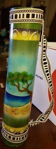 Bamboo Rain Stick Rainmaker Shaker Handmade Painted BIN#A9
