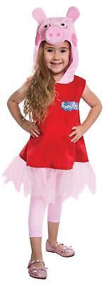 GIRLS PEPPA PIG PIGLET CARTOON HALLOWEEN RUFFLED DRESS COSTUME LF1415 - Halloween Costumes Peppa Pig