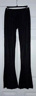 Jo No Fui Women's Designer Black Wide Leg Pants Trousers Sz 42 Made in Italy
