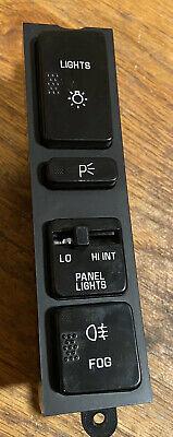 OEM Headlight Head Lamp Light Fog Switch 1990 90 Buick Reatta 03523605