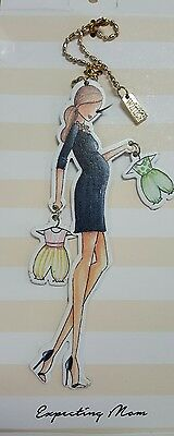 "Metal Charm -""Expecting Mom"". Hang from purse, car mirror, wine bottle, etc. NWT"