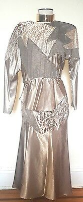 Vintage 80's Style Gold Skirt Set Great as Separates Size S/M
