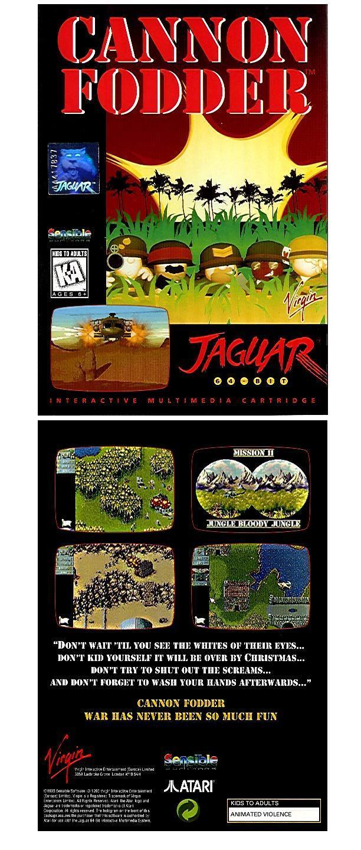 Cannon Fodder Atari Jaguar Factory Shrinkwrap