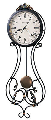 "625-296 -HOWARD MILLER WROUGHT IRON WALL CLOCK ""PAULINA""625296"