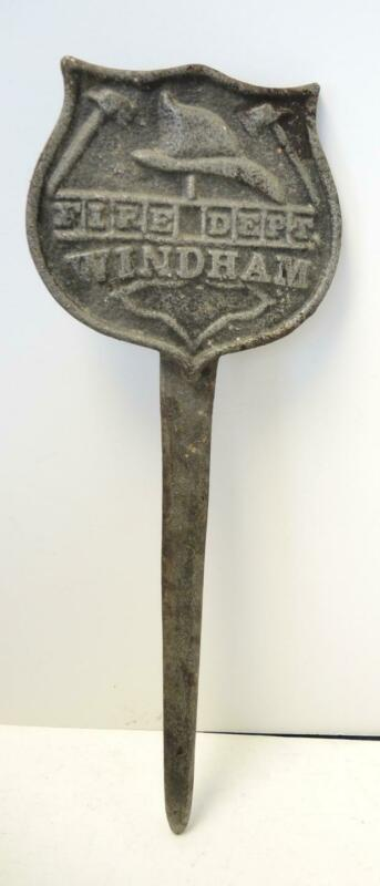Antique Windham Fire Department Grave Marker