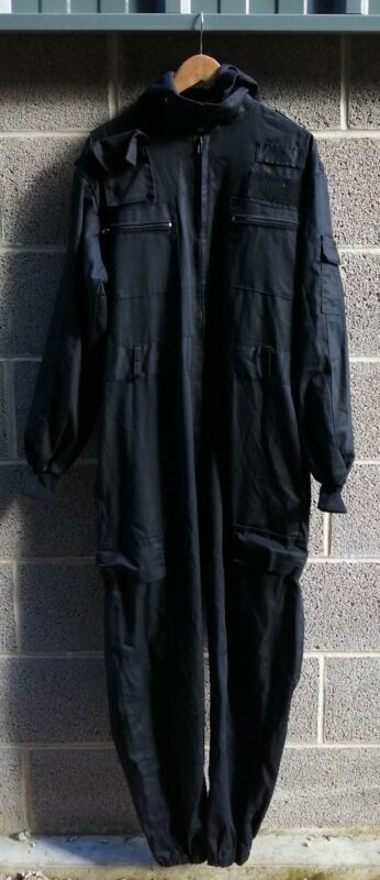 Genuine Ex Police Coveralls Black Firearms Tactical Airsoft Fishing Garage Film
