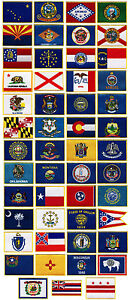 LOT 50 STATE FLAG PATCH embroidered applique IRON-ON USA TRAVEL SOUVENIR EMBLEMS