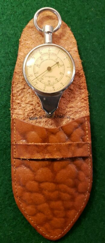Antique GERMAN Compass OPISOMETER Germany with Leather Case Nautical Map Reading